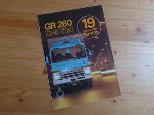 Prospekt Brochure LKW BERLIET GR 260 1971 französisch 1a Zustand  #