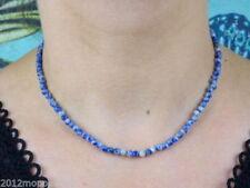 Runde Halsketten mit Sodalith echten Edelsteinen
