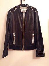 BNWTT 100% Auth GF Ferre Men's Black Soft Leather Jacket. 38/52 M. RRP £1200
