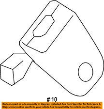 FORD OEM Second Row Back Rear Seat Belt-Buckle End DB5Z7860044EJ