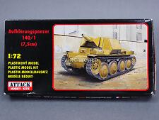 1/72 Attack Hobby Kits  Aufklärungspanzer 140/1  7.5 CM TANK   Model Kit #d2