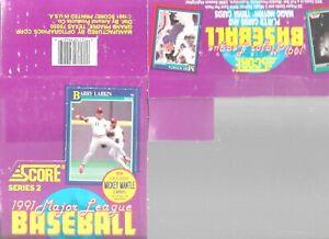 1991 Score EMPTY Display Box Series 2 Barry Larkin On Top Baseball