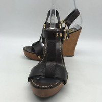 Tory Burch Brown Wedge Sandal 7.5