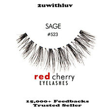10 X RED CHERRY 100% HUMAN HAIR BLACK FALSE EYE LASHES #523 BNIB