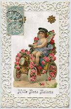 ANGE. ANGEL. AUTOMOBILE ANCIENNE. OLD CAR. FLEURS. FLOWERS. AJOUTIS.