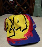 #24 JEFF GORDON Snapback Hat Cap PAINT Big Logo NASCAR Vintage Chase