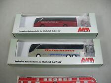 AK965-0,5# 2x AWM H0 Bus Kässbohrer Setra: 71558 Ostermann+71585 Dippel, TOP+OVP