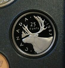 1987 SPECIMEN PROOF CANADA Canadian quarter 25 twenty five cents frosted cameos