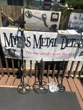 Whites Mx Sport Metal Detector, 4 coils,3 lower rods,Water Hdphones +Land Hphs