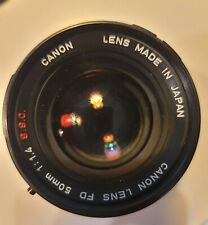 Canon FD 50mm F/1.4 Lens SSC