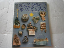 Boxes Baskets Brooms & Bags 19 Floral Projects Craft Pattern Book Wreath Bows