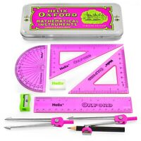 Helix Oxford Clash Complete and Accurate Maths Set - 9 Piece set - Pink Edition