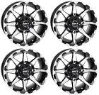 4 ATV/UTV Wheels Set 12in STI HD6 Machined 4/110 5+2 IRS