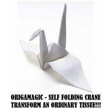 ORIGAMAGIC ORIGAMI SELF FOLDING CRANE FROM TISSUE MAGIC TRICK EASY-TO-DO & COOL!