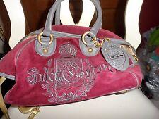 juicy couture burgundy and gray satchel handbag