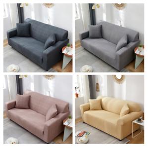 1-4 Seater Washable Soild Color Universal Non-Slip  Soft Sofa Cover Protector