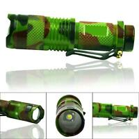 2200LM CREE Q5 LED Zoomable Focus Mini Tactical Flashlight Torch Bike Light MT