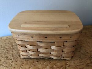 Longaberger Recipe Box with Lid 1999 Cards Dividers and Liner