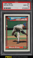 1992 Topps Nolan Ryan RECORD BREAKER #4 PSA 10 GEM MINT (PWCC)