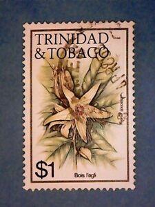Trinidad & Tobago. QE2 1983 $1 Flowers. SG646A. Wmk Ww14 sideways. P14. Used.