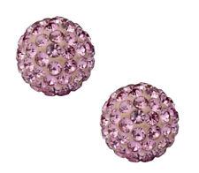 KIRKS FOLLY CRYSTAL FIRE BALL PIERCED  EARRINGS rose pink