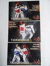 3 Cartes Postales Taekwondo 2008 Maeva Musso, Mickael Borot, Yassine Belhadj