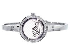 18cc6fece22 Ladies Gucci 2ct Genuine Diamond Stainless Steel Bangle Bracelet Watch  YA105528