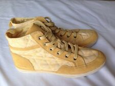 New Women's COACH High Top Sneakers, Pita, Periwinkle Yellow, 9.5 M