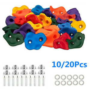Climbing Holds Rock Wall Stones In/Outdoor Kids Playground With Fixing Bolt Set