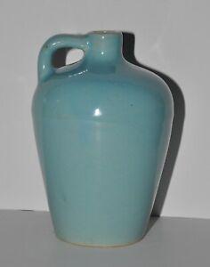 "Vintage Pottery UHL Bybee Utilitarian Utility Jug Single Handle Blue Glaze 6"""