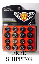 Wheel Pack set Rubber Tires 5 spoke w/long axle for 1/64 Hotwheels and Matchbox