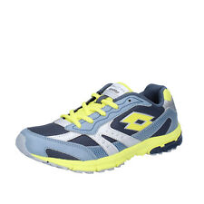 scarpe uomo LOTTO RUNNING 39 EU sneakers grigio giallo tessuto BX877