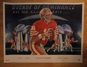 NFL Football Poster JOE MONTANA San Francisco 49ers ~ Merv Corning Art KGO Radio