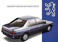 Peugeot - 605- SRI - SR3.0 - SRDT- SRTI - Prospekt - Deutsch - nl-Versandhandel