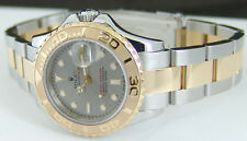 ROLEX - Ladies 18kt Gold Stainless YachtMaster Silver Dial - 169623 SANT BLANC