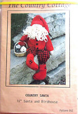 "The Country Cottage ""Country Santa"" Vintage Doll Pattern 19"" Santa & Birdhouse"