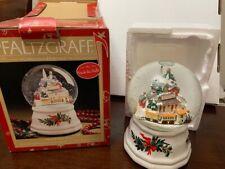"Pfaltzgraff Christmas Heritage Musical Snow Globe~Plays ""Deck The Halls"""