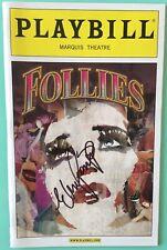 Elaine Paige Only) Signed Follies Playbill Bernadette Peters Danny Burstein 2011
