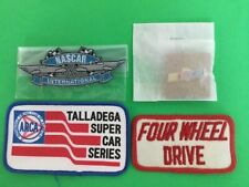NEW 4 LOT NASCAR SEW-ON BIRD EMBROIDERED PATCHES PIN FULL COLOR 4X4 VINTAGE NOS
