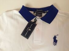 NWT POLO GOLF RALPH LAUREN LADIES SS WHITE MESH SHIRT MEDIUM BIG PONY $89.50
