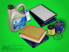 Paquete de Inspección Filtro + ORIGINAL GM ACEITE MOTOR 5w30 dexios2 OPEL ASTRA