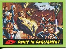 Mars Attacks Heritage Green Parallel Base Card #16    Panic in Parliament