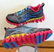 Girls Zigtech REEBOK Sharks Running Sneakers Gravel/Pink/Green Girls Size 11
