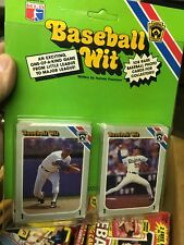Baseball Wit Game 1989 MLB Baseball Card Factory Sealed Little League 108 Cards
