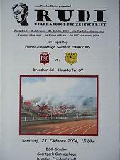 Programm 2004/05 Dresdner SC 1898 - Hausdorfer SV