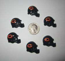 6 CHICAGO BEARS FOOTBALL HELMET FLAT BACK RESINS CABOCHONS*SHIPS FREE*USA SELLER