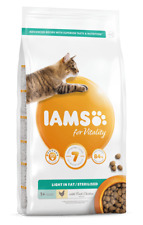 IAMS for Vitality Light in fat Sterilised Cat Food with Fresh chicken | Cats