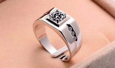 Wedding Cubic Zirconia Jewelry Rings White Stone Ring High Fashion Men