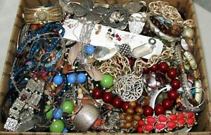 JUNK JEWELRY Huge Lot 17 LBS Vintage - Modern Pounds Salvage Repair Parts Craft