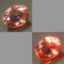 2.18 cts Natural Oval-cut Peach-->Red VVS Malaya Garnet (Tanzania)